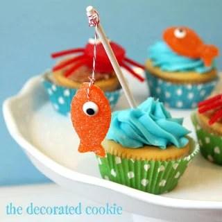 Super cute Fishing Cupcakes
