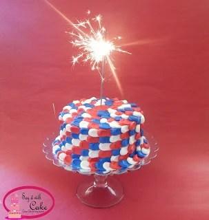Patriotic Petal Cake