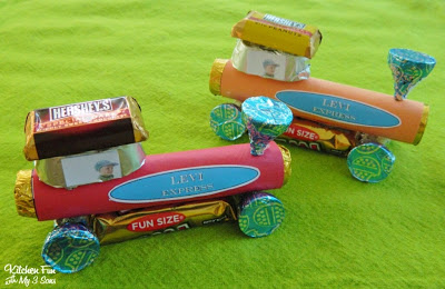 Candy Trains for the kids to take home