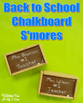 Back to School Chalkboard S'mores