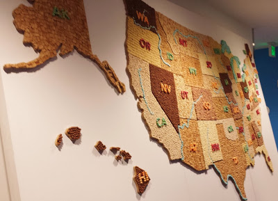 Check out this giant map made out of General Mills cereal