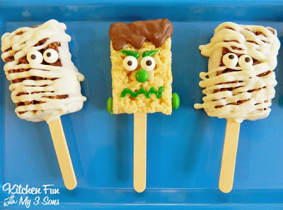 Easy Monster Rice Krispies Treats