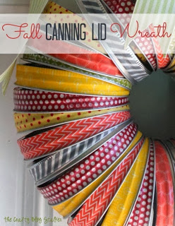 Fall Canning Lid Wreath