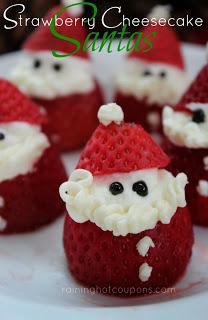 Strawberry Cheesecake Santa's