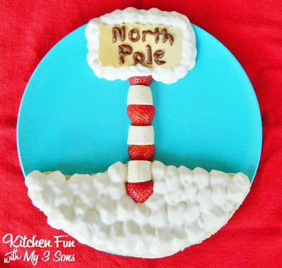 Christmas North Pole Pancakes for Breakfast