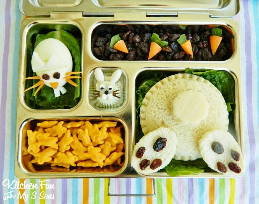 Easter Bunny Butt Bento Lunch