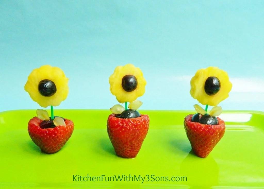 Fruit Flower Pot Snacks