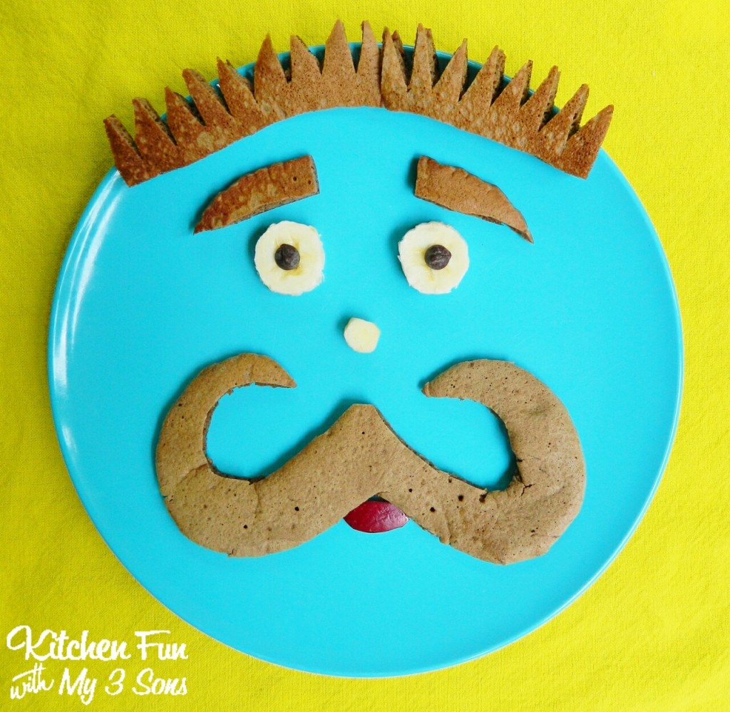 "Our 2014 ""Mancakes"" idea for a fun Father's Day Breakfast!"
