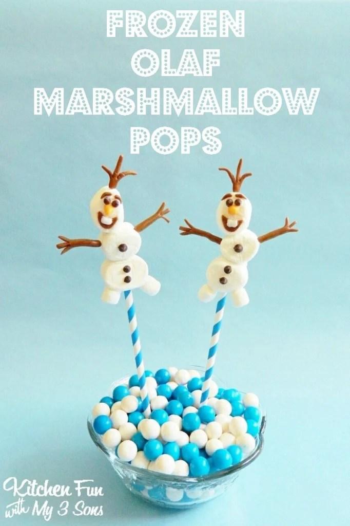Olaf Marshmallow Pops