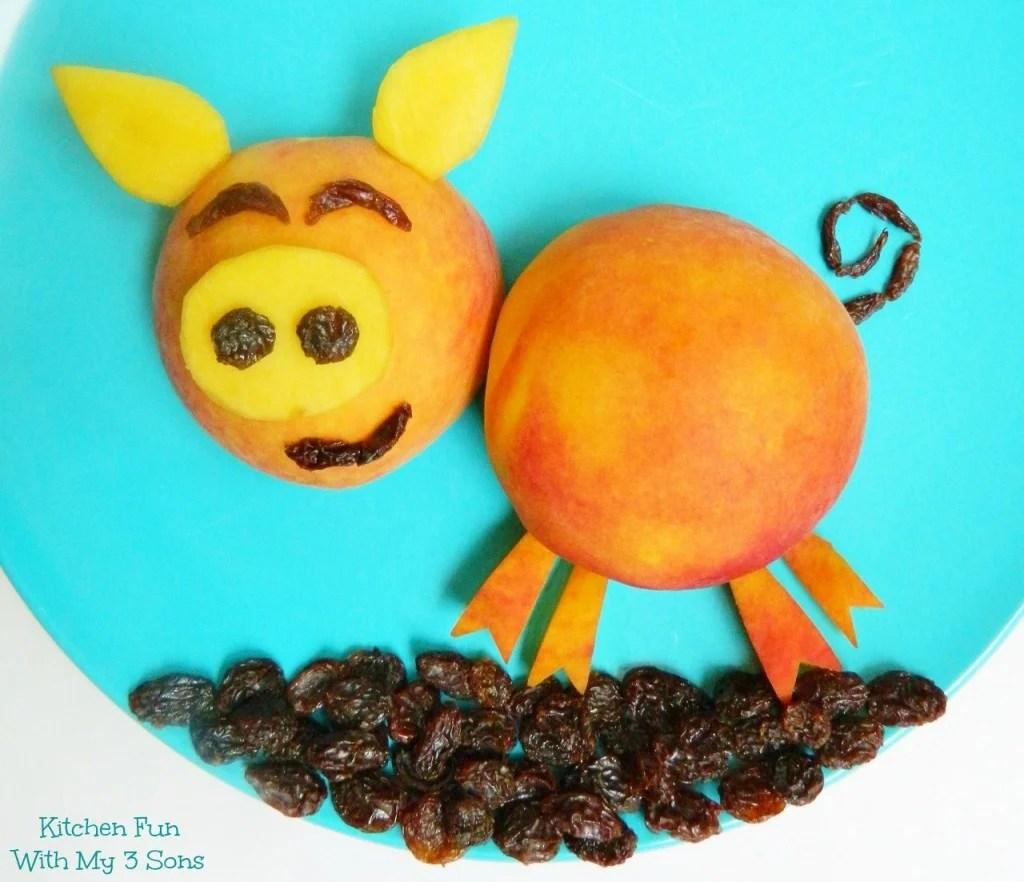 Peachy Piggy Fruit Snack