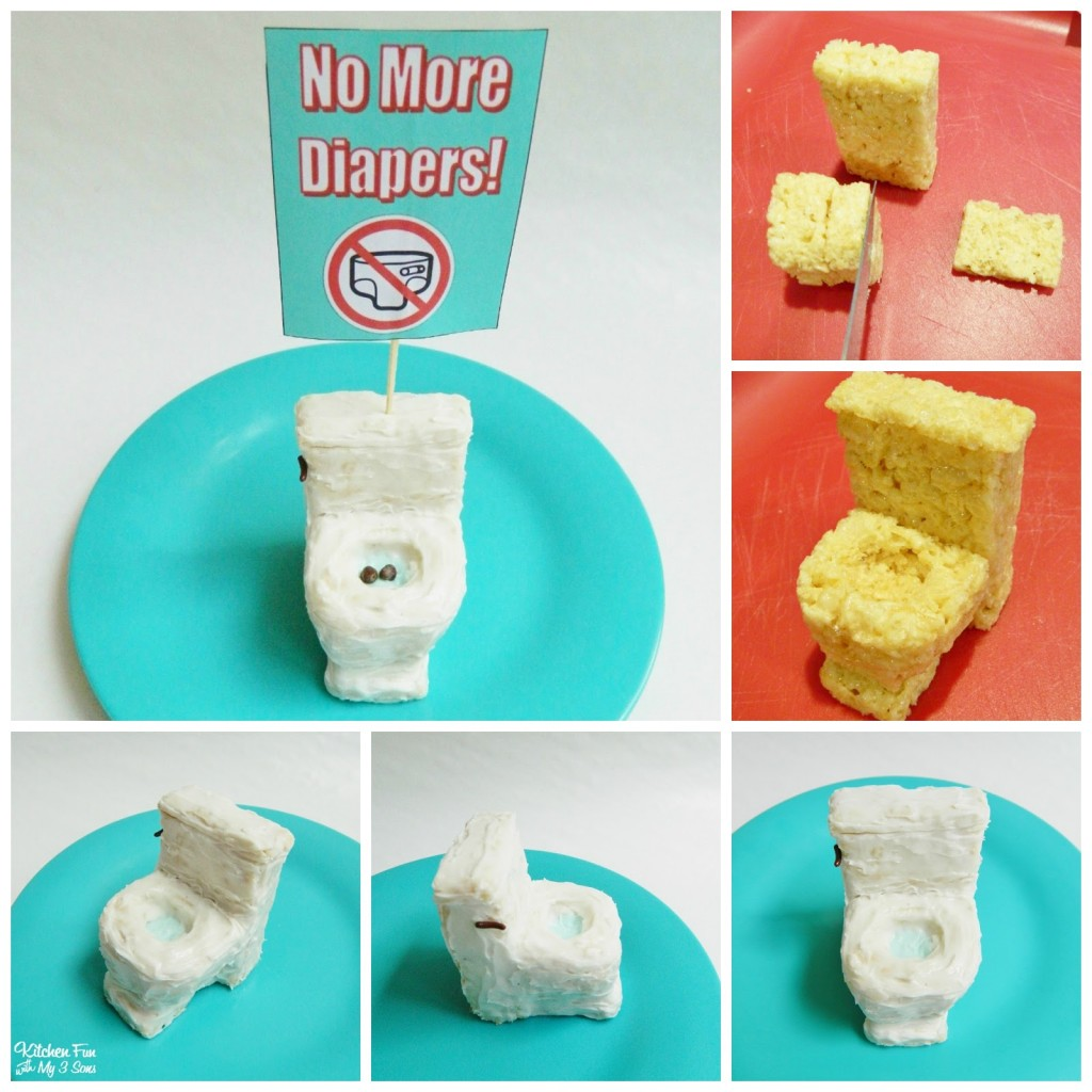 Edible Potty Rice Krispies Treats for a Potty Party