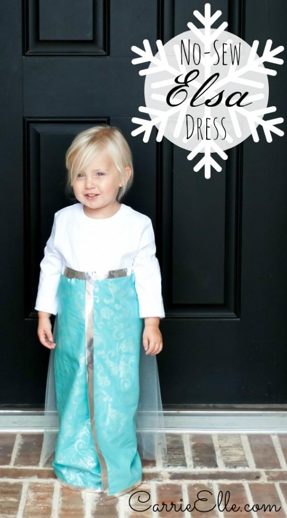 No Sew Elsa Dress