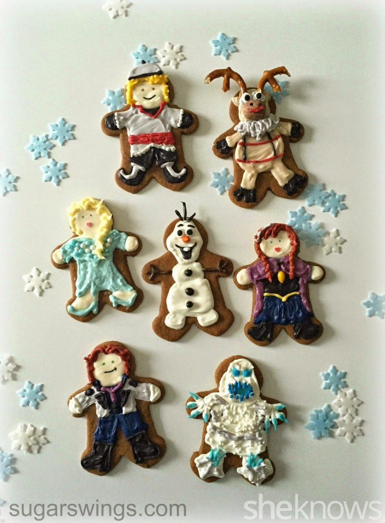 Disney Frozen Gingerbread Cookies