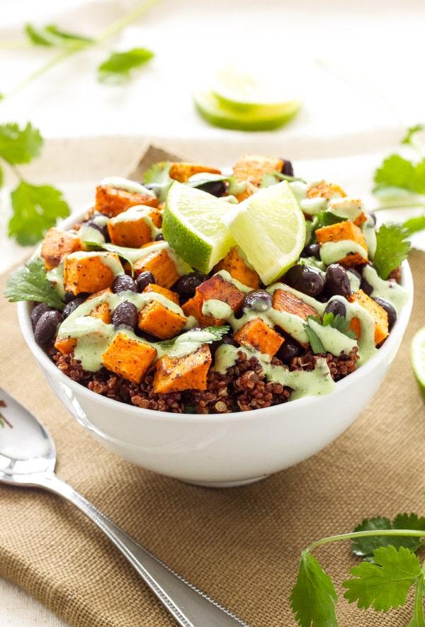 Sweet Potato & Black Bean Quinoa Bowls