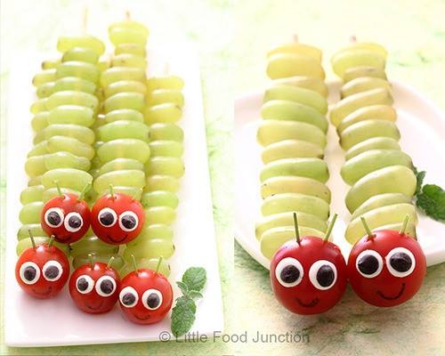 Healthy Caterpillar Fruit Snack for Kids