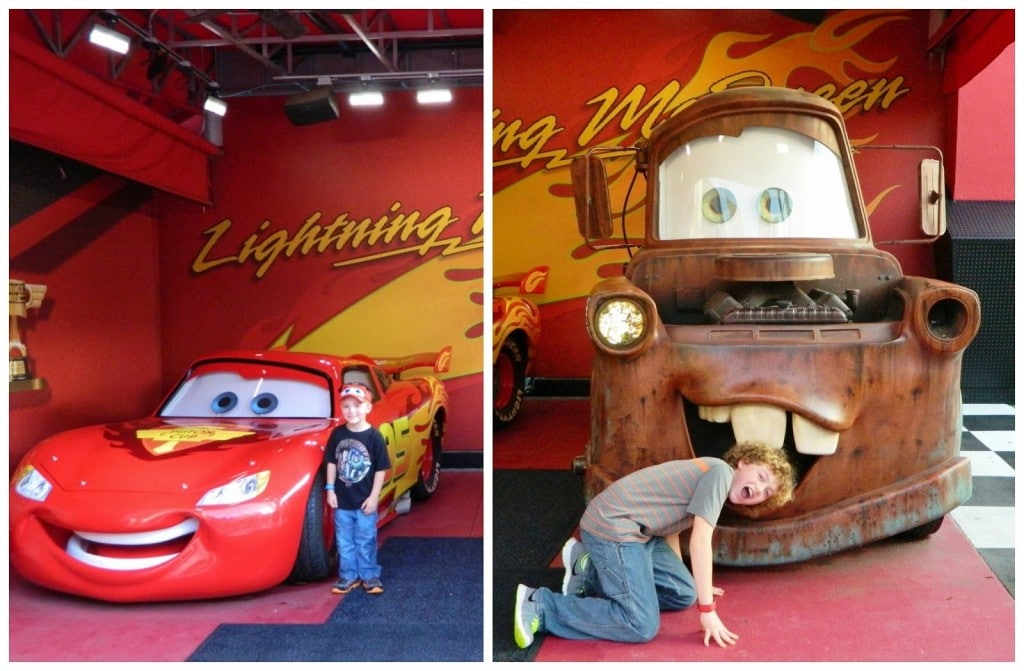 However, he was extremely excited to meet Lightning McQueen and Tow Mater.