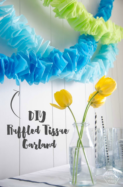 DIY Ruffled Tissue Garland