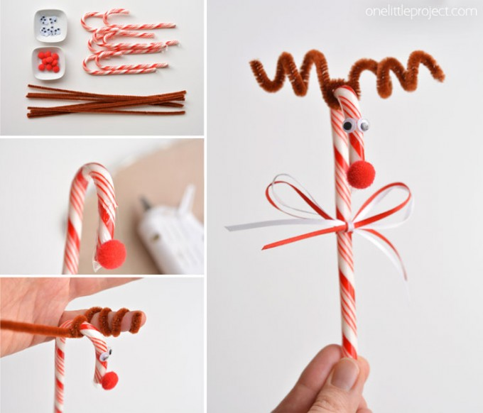 Candy Cane Reindeer Craft for Christmas