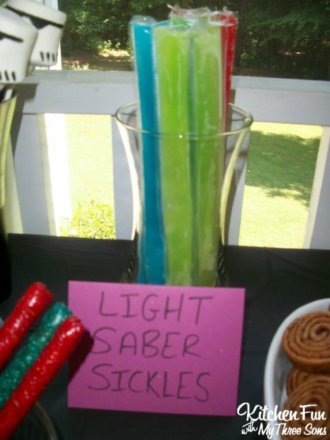 Star Wars Light Saber Popsicles