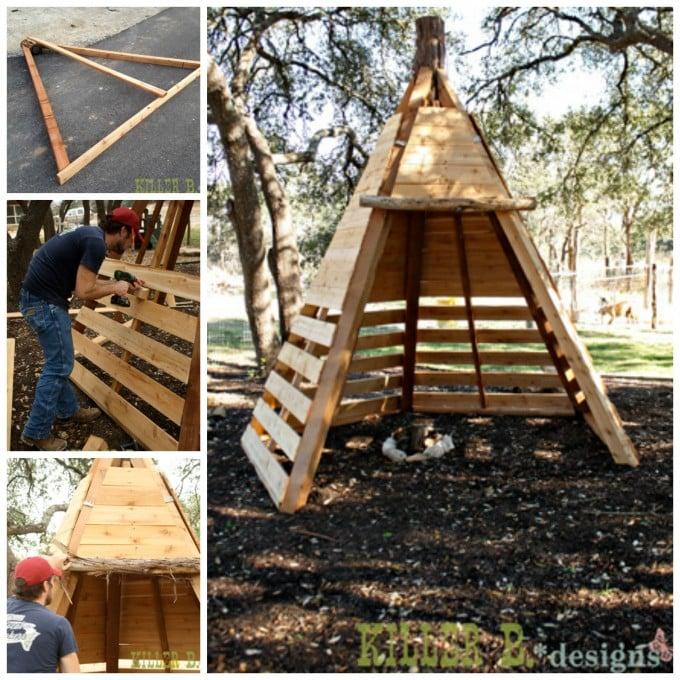 DIY Cedar Play Teepee