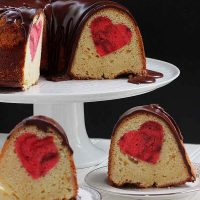 Valentine's Day Heart Pound Cake