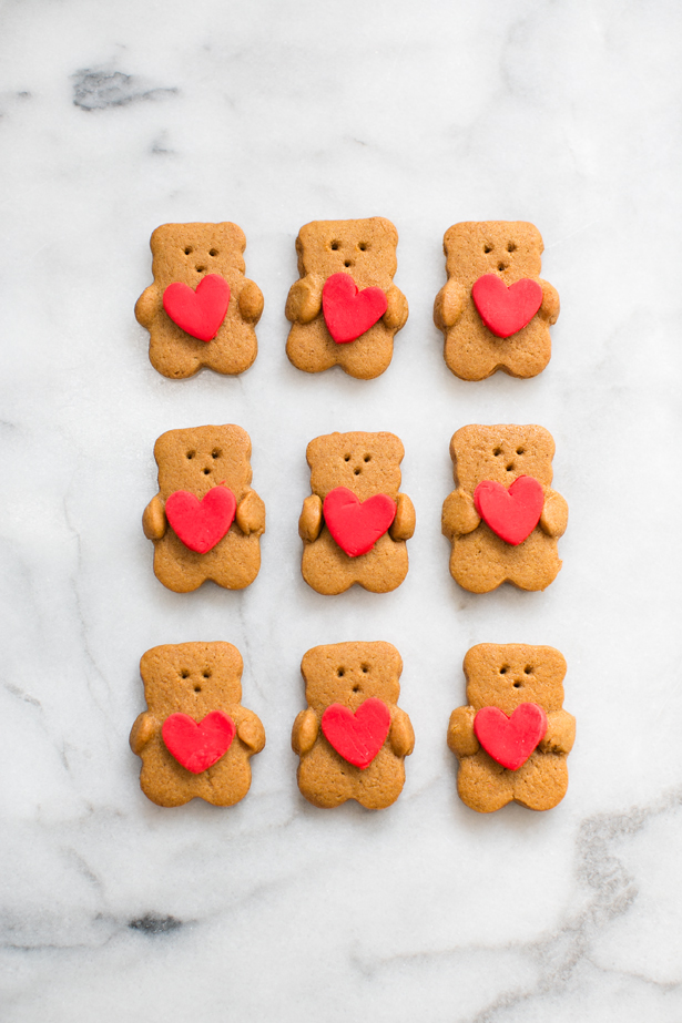 Valentine Bear Heart Hug Cookies