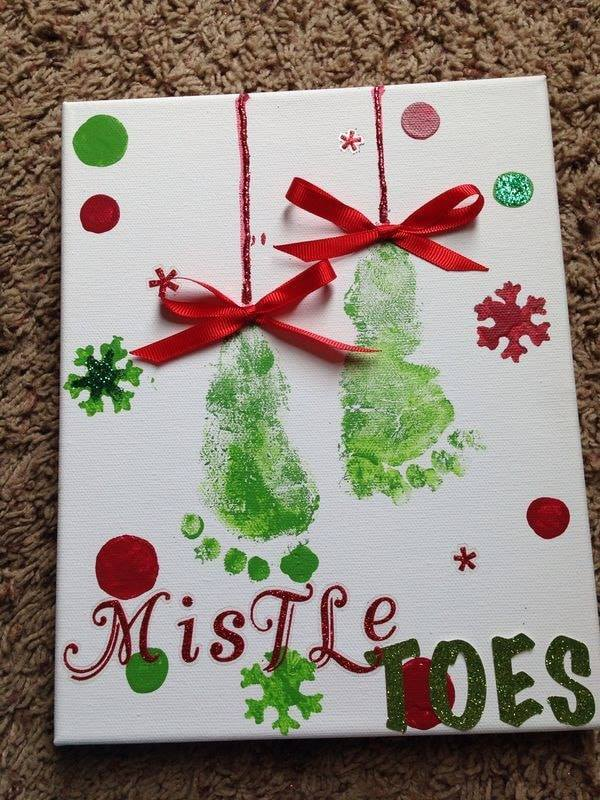 Christmas MistleTOES Keepsake Picture