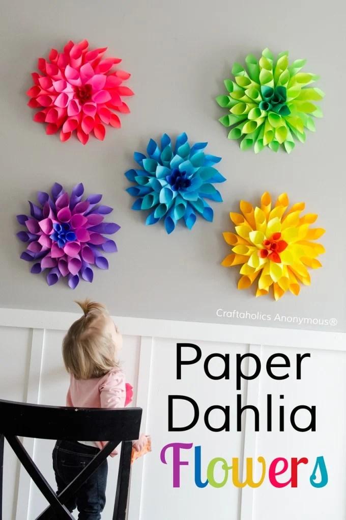Paper Dahlia Flower Craft...for Spring!