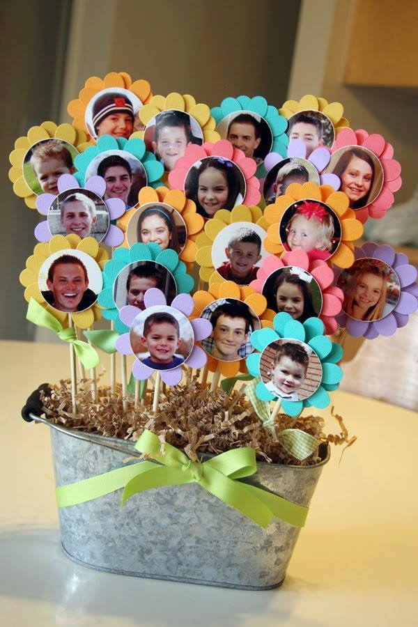 Grandkids Photo Flower Pot Craft for Grandma!