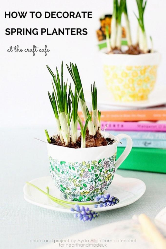 DIY Spring Planters