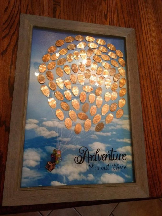 A pressed penny from everywhere in Disneyland, and then framed! Love this idea! ❤️