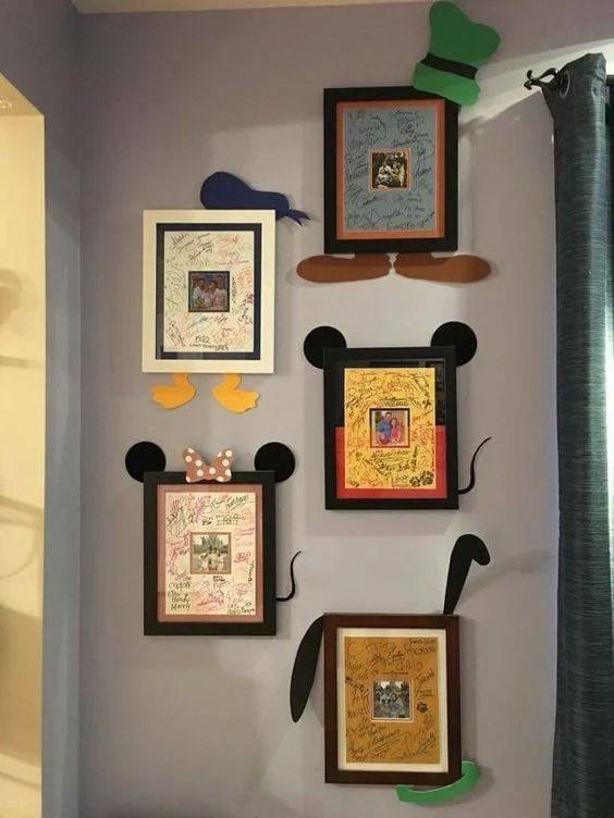 Disney Signature Frame idea...so cute!