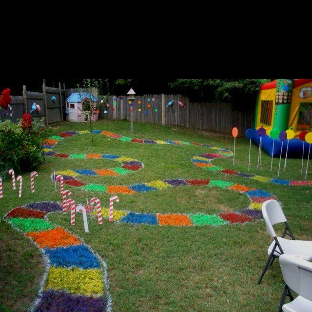 Backyard Candy Land Party