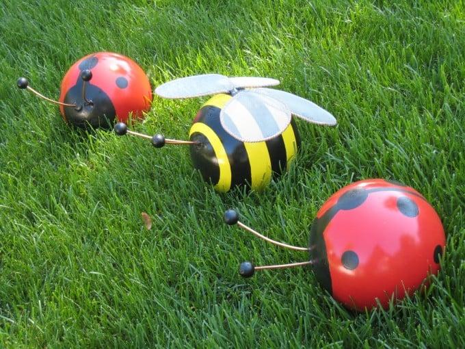 Bowling Ball Bugs Yard Art