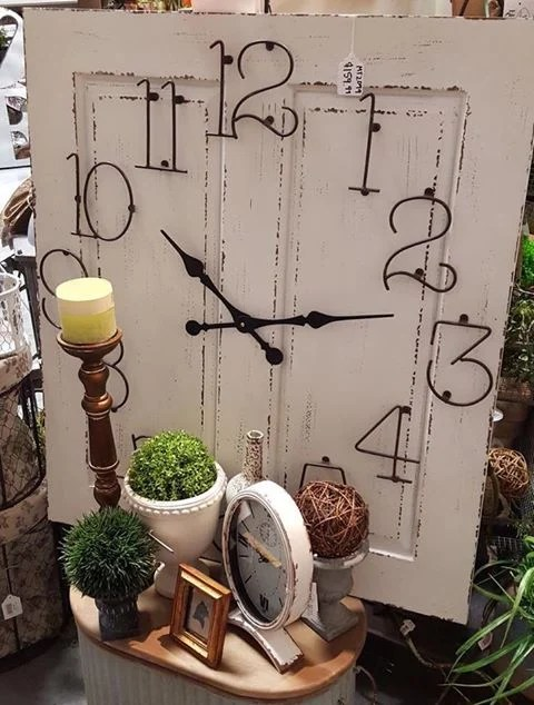 Turn an Old Door into a Clock