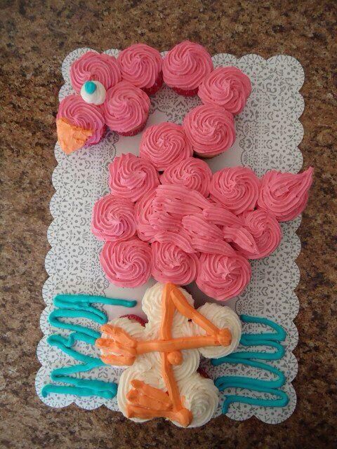 Pink Flamingo Cupcake Cake