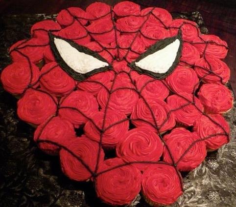 Spider Man Pull-Apart Cake