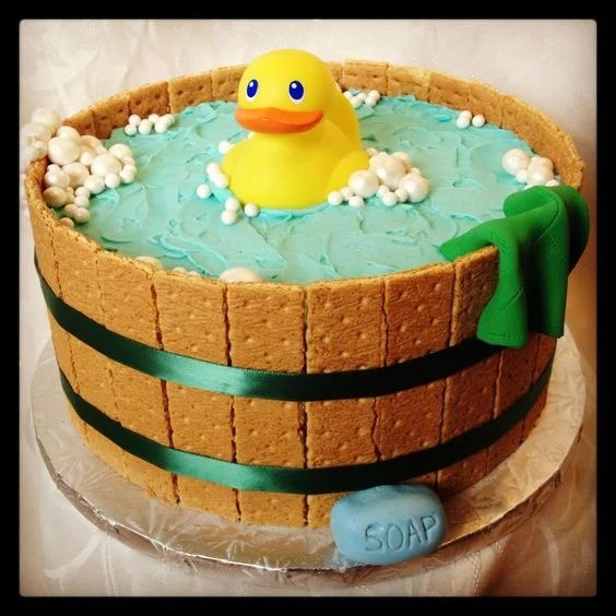 Baby Shower Rubber Duck Cake...these are the BEST Cake Ideas!