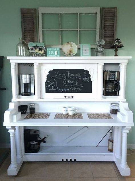 Old Piano turned into a Coffee Bar
