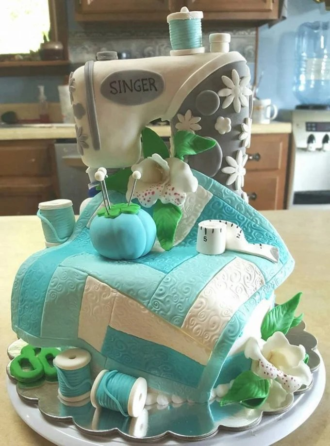 Singer Sewing Machine Cake...these are the BEST Cake Ideas!