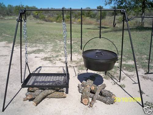 Portable Dutch Oven& Grill Cook Set