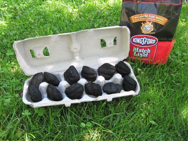 Store Charcoal in Egg Cartons for Camping Trips!