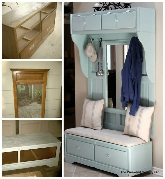 Turn a Dresser into a Mud Room Bench..awesome Upcycle Ideas!