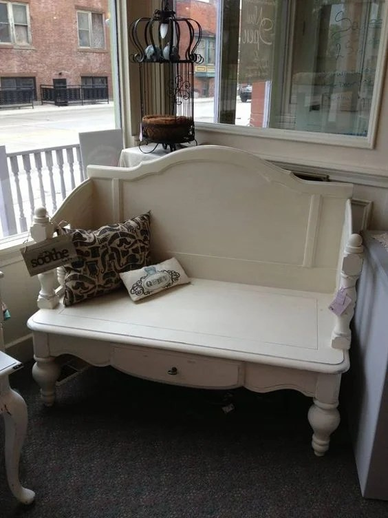 Turn a Coffee Table & a Headboard into an Outdoor Bench...these are the BEST Upcycled Ideas!