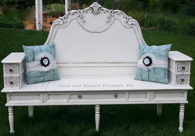 Turn a Headboard, Coffee Table, & Sewing Drawers into a Bench...these are the BEST Upcycled & Repurposed Ideas!