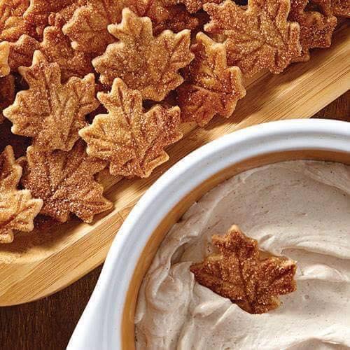 Pie Crust Leaf Chips and Cinnamon Dip