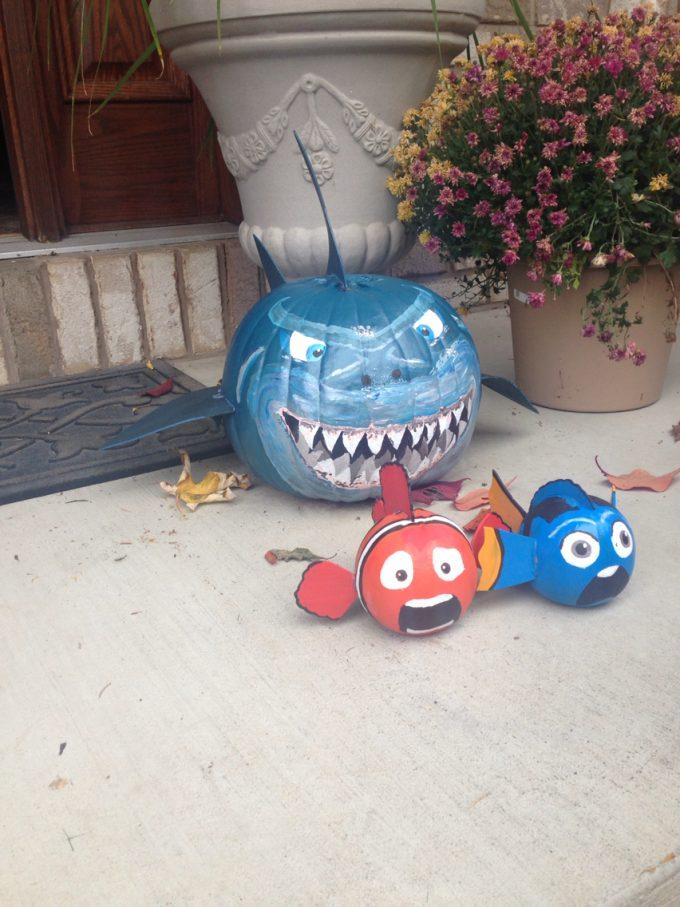 Nemo Shark Pumpkins