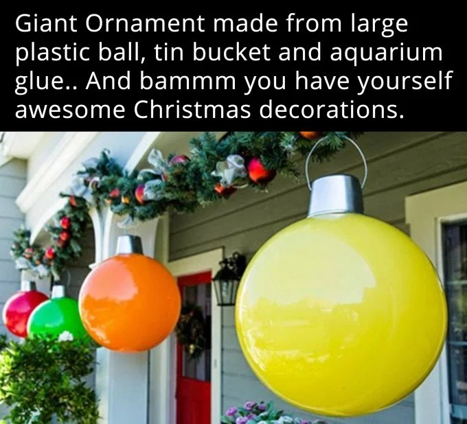 Giant Ball Ornaments