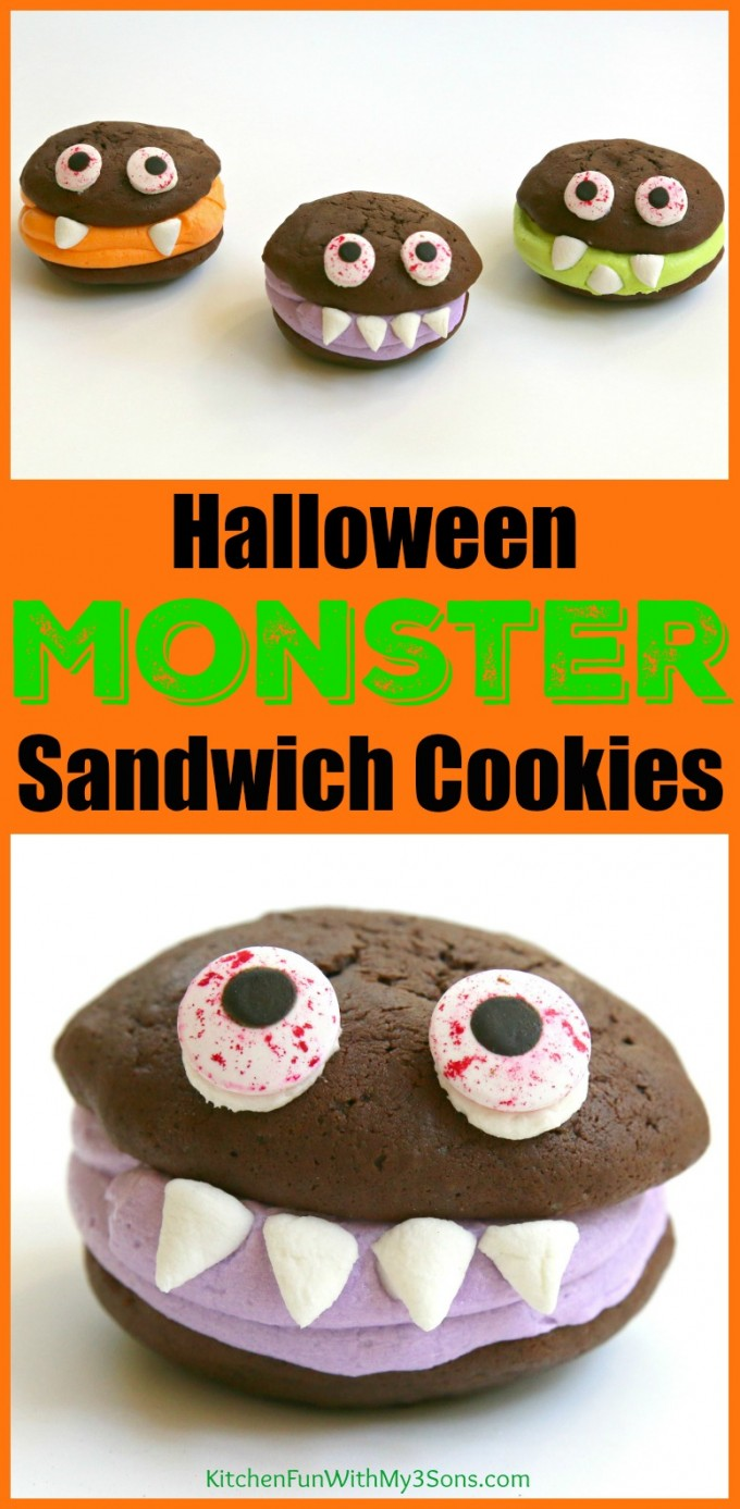 Halloween Monster Sandwich Cookies