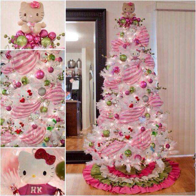 Hello Kitty Christmas Tree...these are the BEST Holiday Tree Ideas!
